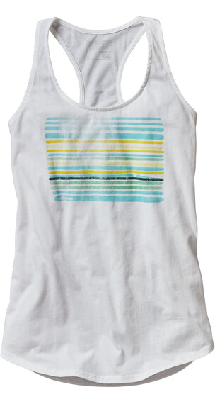 Patagonia W's Horizon Line-Up Cotton Tank Top White